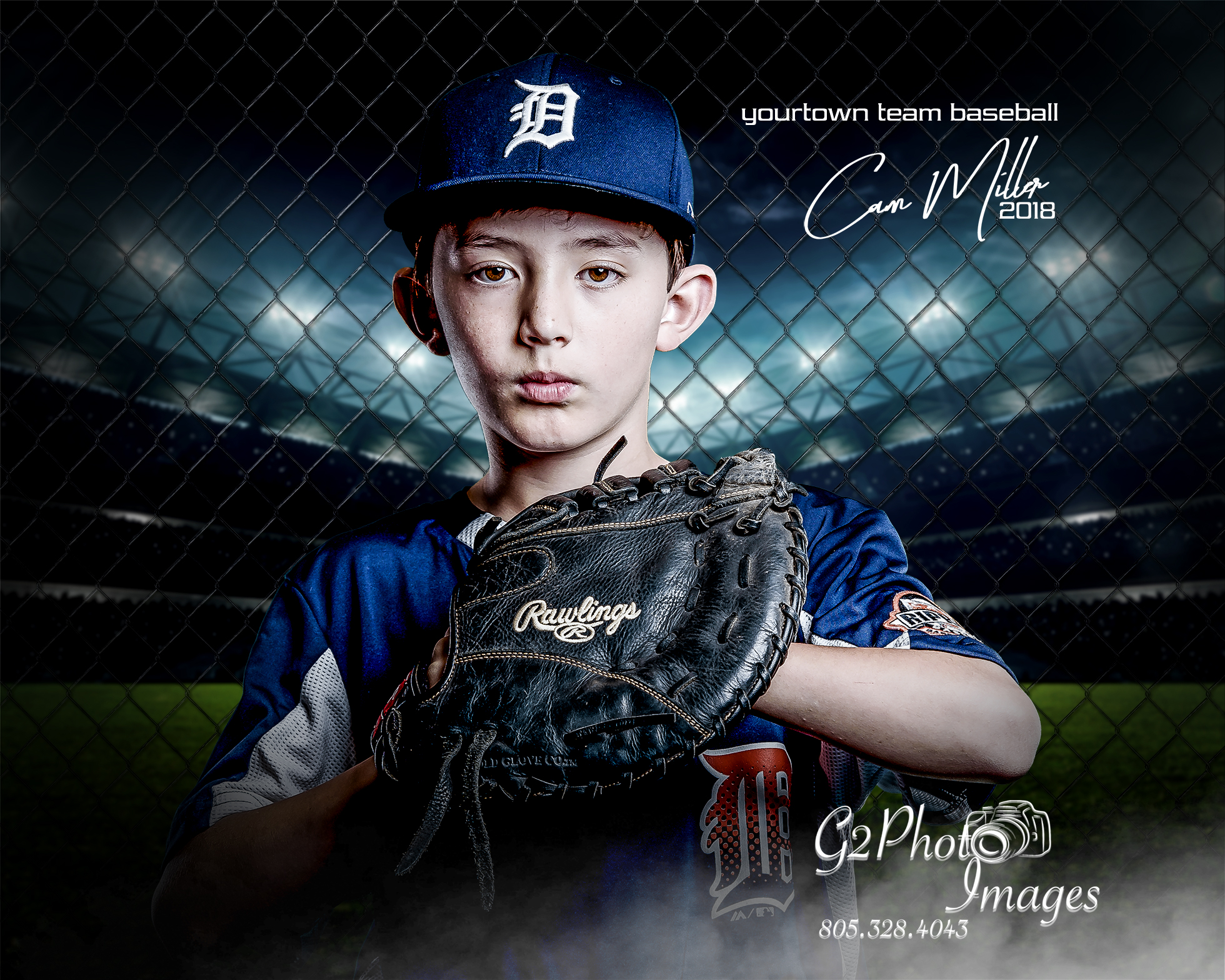Baseball Portraits - Fenced In